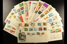 BRITISH COMMONWEALTH 1950's-1980's All Different Collection Of Illustrated Unaddressed FIRST DAY COVERS, Inc India... - Stamps