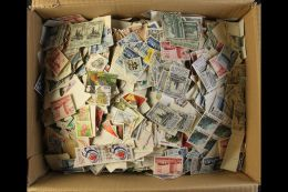 """ALL WORLD LOOSE A Shoe Box Stuffed With An All Period Used """"off Paper"""" Accumulation. Trawling Through We See Much... - Stamps"""