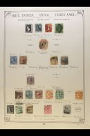 """BRITISH ASIA - COLLECTION ON """"SCHWANEBERGER"""" LEAVES Chiefly Pre-1920 Mint And Used (mostly Used). INDIA From 1854... - Stamps"""