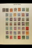 BRITISH COMMONWEALTH RANGES. 1860-1970 Mostly Used Stamps On Various Pages, Inc (all Used) Br Honduras 1865 1d... - Stamps