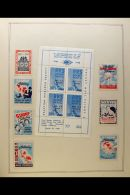 CHARITY & EXHIBITION LABELS - MASSIVE IN ONE BIG BOX. A Vast Accumulation Of All World But Chiefly American... - Stamps