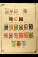 AMERICAN COUNTRIES COLLECTION On A Pile Of Ancient Printed Album Pages Bearing A 19th Century To About 1950... - Stamps