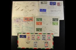 WORLD COVERS HOARD. Mostly 20th Century Accumulation Of Commercial & Philatelic Covers & Cards In A Box,... - Stamps