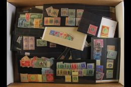 BRITISH COMMONWEALTH - COLLECTOR'S HOARD Shirt Box Accumulation Of Mostly Mint Issues On Stock Cards, Stock Sheets... - Stamps