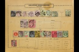 """LOVELY """"OLD TIME"""" WORLD COLLECTION 1840s-1930s. A Truly Delightful, Chiefly Used, ALL DIFFERENT Collection... - Stamps"""