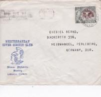 CHYPRE 1957 LETTRE DE LARNACA - Covers & Documents