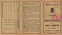 BRESSOUX CARTE D' IDENTITE  Maria Brock - Cartes