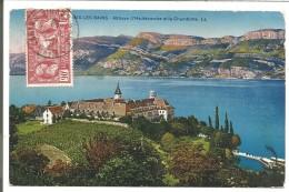 N°244 SEUL SUR CARTE DE GARE D'AIX LES BAINS (SAVOIE) DU 6/5/1929 - Marcophilie (Lettres)