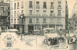 NANTES LA PLACE ROYALE ET LA RUE CREBILLON COLLECTION G.I.D. - Nantes
