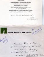 VP5516 - Faire Part - BLOIS - Carton D'Invitation Office National Des Forets - Mr Ph.HATT Inspecteur Général - Faire-part