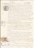 FISCAUX SUR PAPIER FILIGRANE REPUBLIQUE FRANCAISE 1945 - Fiscaux