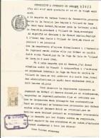 FISCAUX SUR PAPIER FILIGRANE REPUBLIQUE FRANCAISE 1940 - Fiscaux