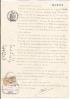 FISCAUX SUR PAPIER FILIGRANE ETAT FRANCAIS 1942 + R - Revenue Stamps