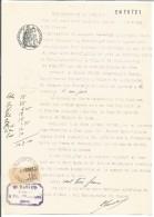FISCAUX SUR PAPIER FILIGRANE ETAT FRANCAIS 1943 + R - Revenue Stamps