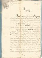 GENERALITE DE VIZILLE (ISERE) DU 9/1/1860 - Cachets Généralité