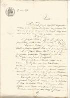 GENERALITE DE VIZILLE (ISERE) DU 25/5/1854 - Cachets Généralité