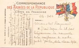 CARTE EN FRANCHISE MILITAIRE DU 24 FEVRIER 1916 - Marcofilie (Brieven)