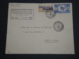NOUVELLE CALÉDONIE - Enveloppe 1 Er  Voyage Régulier  Nouméa / Paris Par Air France En 1949 - A Voir - L 2516 - Cartas