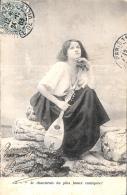 [DC3247] CPA - DONNA CON MANDOLINO - Viaggiata 1903 - Old Postcard - Femmes
