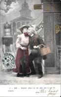 [DC3254] CPA - COPPIA DI INNAMORATI - OMBRELLO - Viaggiata 1903 - Old Postcard - Coppie