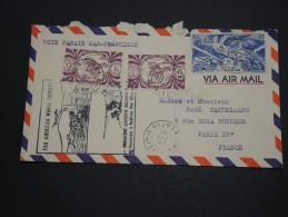 NOUVELLE CALÉDONIE - Enveloppe 1 ère Liaison  Nouméa / Sydney  Pour Paris En 1947 - A Voir - L 2517 - Nueva Caledonia