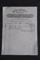 Facture Ancienne - MURCIA - HOTEL DE PARIS, José LOPEZ PELEGRIN, Calle De Jabonerias - España