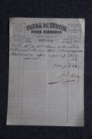 Facture Ancienne ,SEVILLA - Fonda De EUROPA, RICCA Hermanos, Calle De GALLEGOS, 19 - Espagne