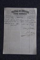Facture Ancienne ,SEVILLA - Fonda De EUROPA, RICCA Hermanos, Calle De GALLEGOS, 19 - España