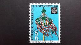 Österreich 1671 Oo/ESST EUROPA/CEPT 1981, Folklore - 1981-90 Used
