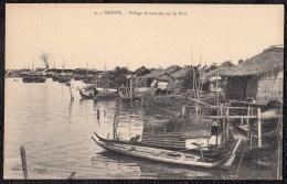 COCHINCHINE - VIETNAM - ** SAIGON - VILLAGE ANNAMITE SUR LE PORT **  ! - Viêt-Nam