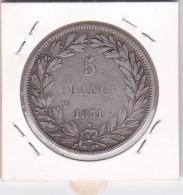 Monnaie.France 5 Fr 1831 W -Louis Philippe I. - France