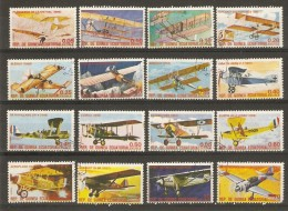 Guinée Equatoriale 1979 - Histoire De L'aviation - Série Complète De 16 Timbres Oblitérés - Vrac (max 999 Timbres)