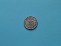 1949 D - 50 PFENNIG / KM 104 ( For Grade , Please See Photo ) ! - 50 Pfennig