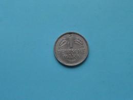 1950 J - 1 Mark / KM 110 ( For Grade , Please See Photo ) ! - [ 7] 1949-… : RFA - Rép. Féd. D'Allemagne