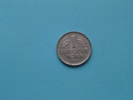 1961 G - 1 Mark / KM 110 ( For Grade , Please See Photo ) ! - [ 7] 1949-… : FRG - Fed. Rep. Germany