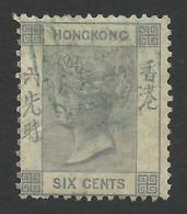 Hong Kong, 6 C. 1863, Sc # 12, Mi # 10, Used. - Hong Kong (...-1997)