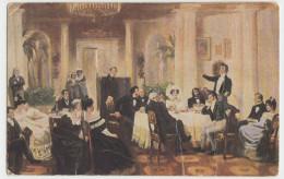 Russia - Painting, Mitzkevich, Dans Le Salon De Volkonsky - Russie