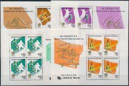 South Korea Stamp Summer Olympics, Seoul Block Set MNH 1986 Mi 510-513 WS209009 - Corea (...-1945)
