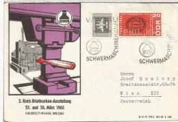 ALEMANIA DDR MAT SCHWERMASCHINENHAUS SELLO PERFORADO PERFIN STAMP PHIL KW - DDR