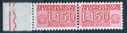 PIA - ITA - Specializzazione : 1968 :  Pacchi In Concessione £ 150   - (SAS 16  - CAR 36) - Varietà E Curiosità