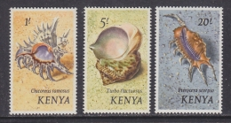 Kenya 1971 Shells 3v ** Mnh (32174) - Kenia (1963-...)