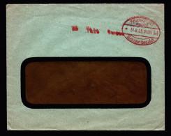 A4231) DR Infla Brief Von Frankfurt 31.8.23 Portoletzttag Mit 2 Barfrankaturstempeln - Deutschland