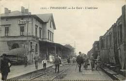 Pays Div - Allemagne  - Ref G339- Troisdorf - La Gare Ligne De Chemin De Fer - Carte Bon Etat  - - Germania
