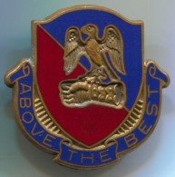 Aviation Center And School Unit Crest - United States Army, Enamel, Vintage Pin, Badge, Abzeichen, 30x30mm - Militaria