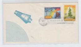 Colombia SPACE FDC 1965 - FDC & Gelegenheidsboekjes