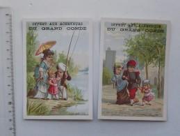 CHROMO Offert Aux Acheteurs Du GRAND CONDE: Lot De 2 Même Série - Départ Du Réserviste Et A La Campagne - Soldat Pêche - Autres