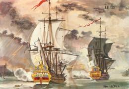Belle  Carte  -  Navires Celebres De Saint Malo -  Le Lys ,vaisseau De 74 Canons       K42 - Velieri