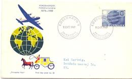 DANMARK 1949 FDC POST TRANSPORT  (SET160192) - Posta