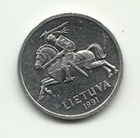 1991 - Lituania 1 Centas, - Lituania