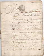 1787 - Acte Notarié - Cachet Généralité D'Alençon - Taxe 2 Sols 4 Deniers Par Feuille - Document 9 Feuilles - Cachets Généralité